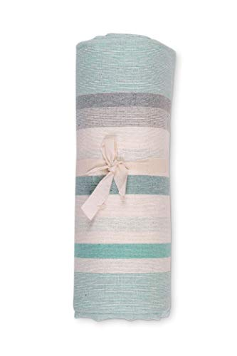 HomeLife - Telo Arredo Copridivano a Righe 260 X260 – Lenzuolo Copritutto Multiuso in Cotone – Granfoulard Copriletto per Letto Matrimoniale - Made in Italy [2 Piazze] – Verde
