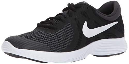 Nike Unisex-Kinder Laufschuh Revolution 4, Schwarz