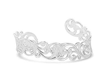 Montana Silversmiths Women s Southwest Lifestyle Cuff Bracelet  Denim & Lace