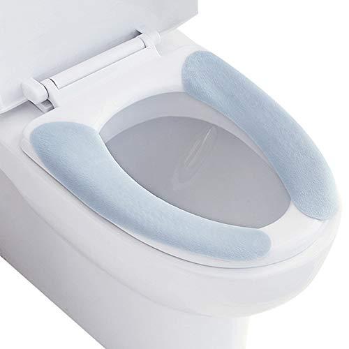Mopoin WC Sitzbezüge Wärmer Toilettensitzabdeckung Pads, Verdickte Toiletten Sitzbezug Sitz, Abdeckung Waschbar Selbstklebe Universal Toilettensitz, Toilet Seat Cover