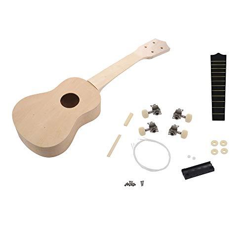 MTSBW Guitarra eléctrica, de 21 Pulgadas de Bricolaje de Madera Ukelele Ukelele...