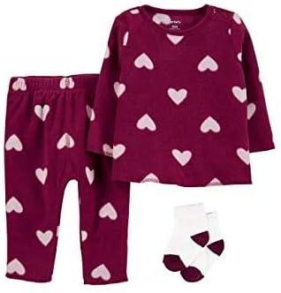 Carter's Toddler Baby Girls Swimwear Set (Heart Purple, 3m)