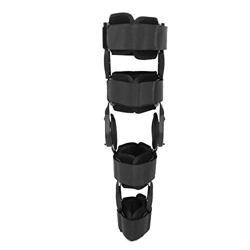 Rodillera ROM con bisagras con correa, estabilizador ajustable de la pierna Protector de la abrazadera posterior de la pierna Recuperación del esguince, Protector médico ortopédico para hombres y muje