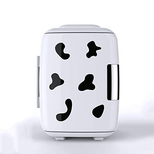 Compacte en draagbare mini-koelkast voor het koelen en verwarmen van 4 liter inhoud, 6 blikjes, 12 oz. Inclusief stopcontacten en 12 V autolader NYGJMN