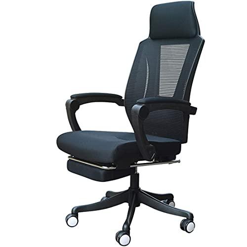 Dfgdf Silla de Oficina ejecutiva con Respaldo Alto Sillón de sillas de Escritorio Ajustable en Altura con reposapiés