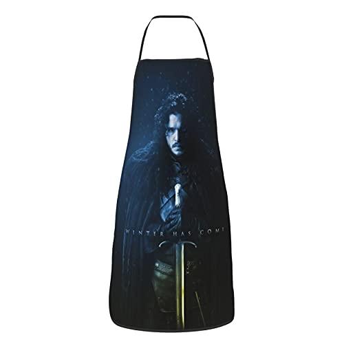 Delantal ajustable con diseño de Juego de Tronos para cocinar, hornear y jardinería, corte de pelo unisex