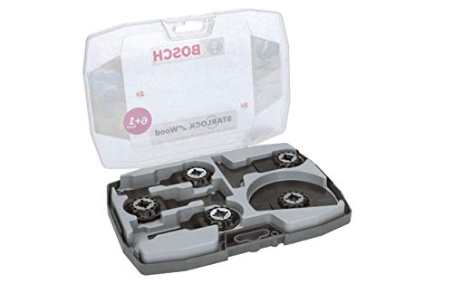 Bosch Professional 7 tlg. Starlock Tauchsägeblatt/Segmentsägeblatt Set (für Holz und Metall, Zubehör Multifunktionswerkzeug)