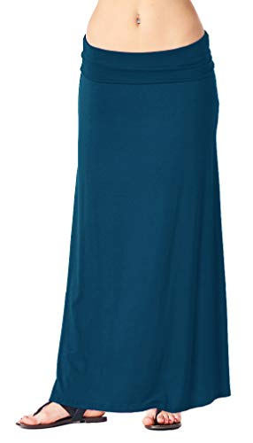Popana Womens Long Maxi Skirt Casual Convertible Sundress Plus Size Made in USA Teal 3X