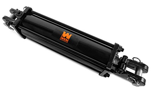 WEN TR3508A 2500 PSI ASAE Tie Rod Hydraulic Cylinder with 3.5' Bore and 8' Stroke, Black