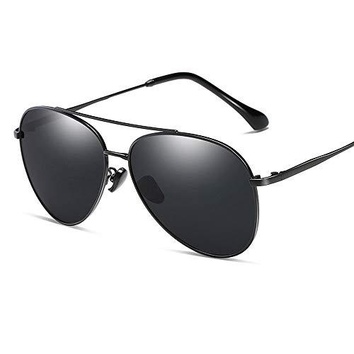 Gafas De Sol para Hombre Y Mujer Moda HD Polarizadas Gafas ProteccióN para ConduccióN Gafas De Deportes Al Aire Libre De Pesca De Moda Regalo de San Valentín (Color : Black)