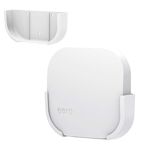 Wall Mount Bracket for Eero, for eero WiFi Wall Mount Holder by Mrount,Improve Your eero Pro Home WiFi System WiFi Signal,Simple Designed Accessories Bracket Stand (1 Pack)