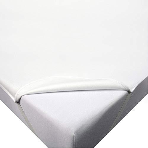 Protector de colchón impermeable, tamaño de 90 x 200 a 200 x 220 a 30 cm, 195 g/m², transpirable, fabricado en UE, Oeko-Tex 100 (180 x 200 cm)