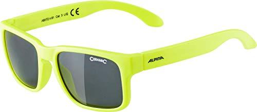 ALPINA Unisex - Kinder, MITZO Sportbrille, neon yellow matt, One Size