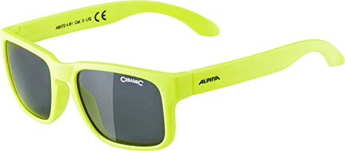 ALPINA MITZO Sportbrille, Kinder, neon yellow, one size