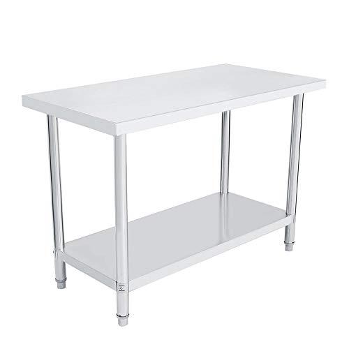 2FT/3FT/4FT Mesa de trabajo de cocina de acero inoxidable, mesa de ...