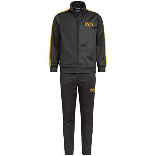 BENLEE Rocky Marciano Present JUNIOR Kinder Trainingsanzug Fitnessmode Sportbekleidung Schwarz, Größe:152
