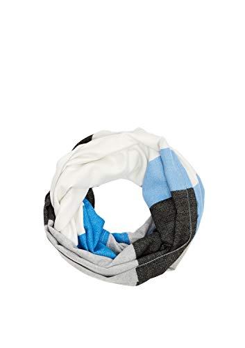 s.Oliver Damen 39.912.91.4442 Mütze, Schal & Handschuh-Set, Blau (Blue Stripes 53g1), One Size (Herstellergröße: 1)