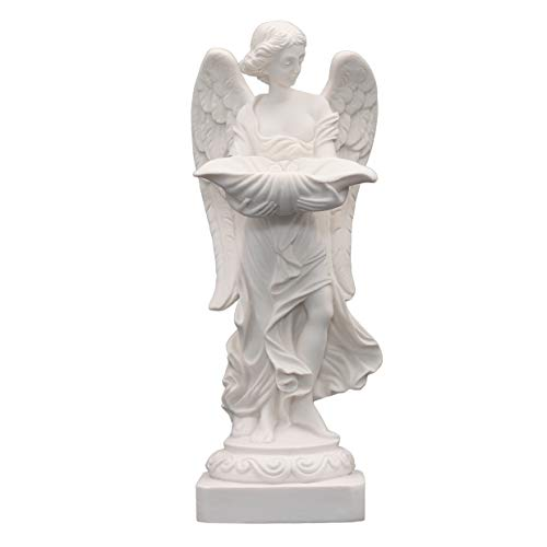 Handmade Alabaster Angel Statue 9.45 in
