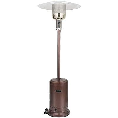 Lanyun Premium Outdoor Patio Heater, 46000 BTU Commercial Bronze Outdoor Patio Heater with Sandbox and Wheels,Outdoor Propane Heater Patio Tall Standing Heater, 87-in