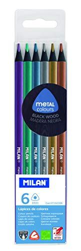 MILAN-Lapices de Colores metalicos, pequeño (M07102306)