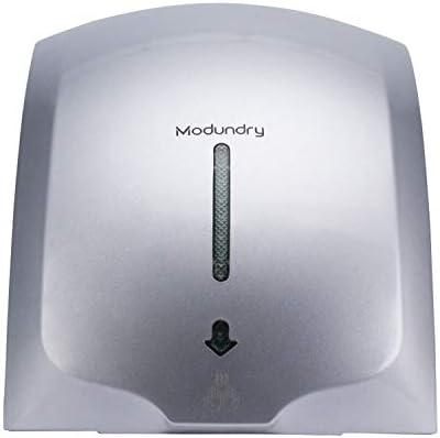 Modundry Secador de Manos Electrónico con Sensor, Secadora de Manos Comercial y Hogar, ABS 2000W, Montado En La Pared - Color Gris
