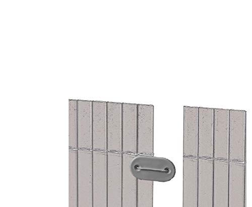 Monteringssats för PVC siktskyddsmattor antracit färgade, 26 stycken – synskyddsstänger synskyddsvägg trädgårdsskydd balkong visir vindskydd siktskyddande vägg för trädgård och terrass Btakskydd för balkong siktskyddsväggar WPC siktskydd </p>--> Stor