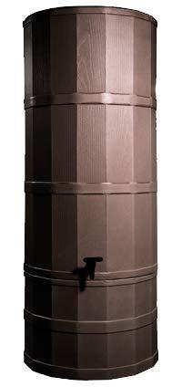 Eiche Braun 200L Liter Tower Regentonne Kit mit Ständer, umlenkventil, und Wasserhahn