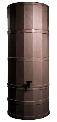 Polytank Oak Brown 200L Litres TOWER WATER BUTT KIT with Stand, Diverter & Tap