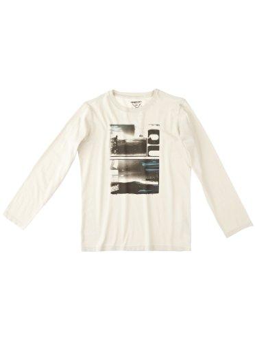 Quiksilver - Camiseta para niño, tamaño 16 años, Color Plateado