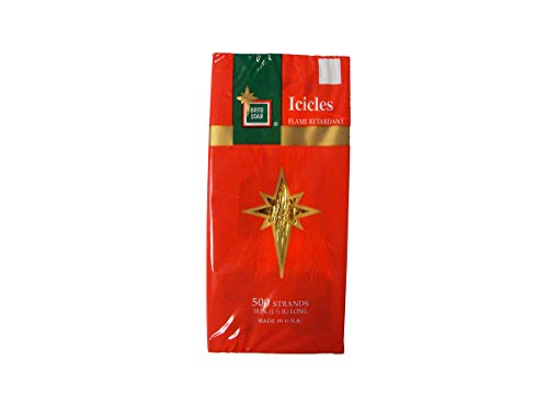 LB International 500ct Gold Tinsel Icicle Strand Christmas Decorations 18