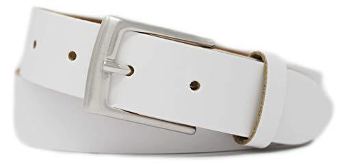 GREEN YARD Gürtel weiß 3 cm breit für Damen & Herren aus 100% echtem Leder