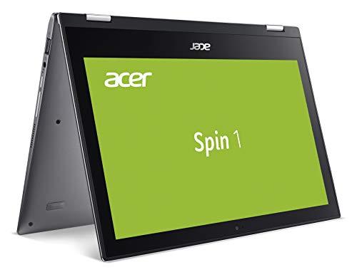 Acer Spin 1 (SP111-34N-P3RH) 29,5 cm (11,6 Zoll HD IPS Multi-Touch) Convertible Laptop (Intel Pentium N5000, 4 GB RAM, 128 GB eMMC, Intel UHD, Win 10 Home) grau
