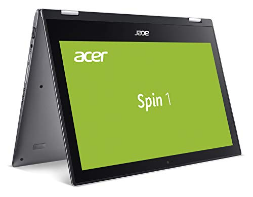 Acer Spin 1 (SP111-34N-P3RH) 29,5 cm (11,6 Zoll HD IPS Multi-Touch) Convertible Laptop (Intel Pentium N5000, 4 GB RAM, 128 GB eMMC, Intel UHD, Win 10 Home) grau