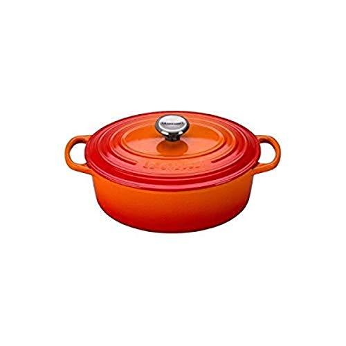 Le Creuset Enameled Cast Iron Signature Oval Dutch Oven, 2.75 qt., Flame