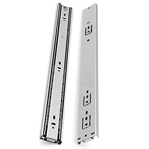 Gobrico 22-Inch Soft Close Drawer Slides, Heavy Duty Full Extension Drawer Runners, Ball Bearing Cabinet Drawer Rails Glides, Side Mounting, 1Pair(=2 Pieces)