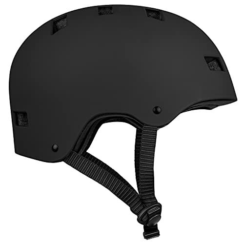 Retrospec CM-1 Bicycle / Skateboard Helmet for Adult Commuter, Bike, Skate,Matte Black , 51-55 cm / Small