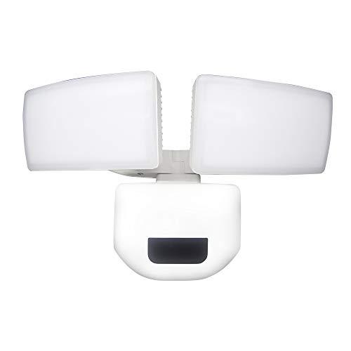 LZQ Dual-Kopf LED Strahler mit Bewegungsmelder Außen Sicherheitsbeleuchtung Sicherheitslicht, 30W Outdoor-Licht mit Bewegungssensor IP67 Wasserdicht für Garten Garage Hof, 2600LM, Tageslichtweiß