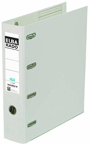 ELBA rado plast Doppelordner A4, 2 x A5 quer, 7,5 cm breit, weiß, 1 Stück