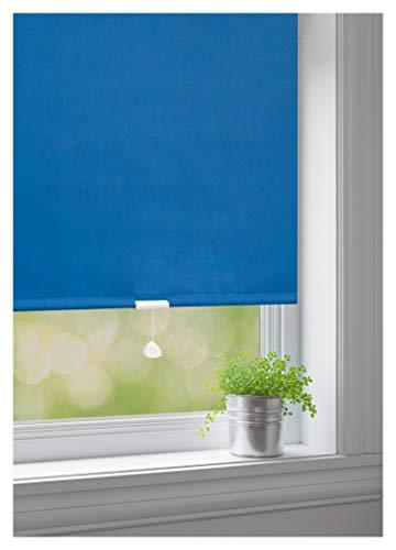 JalousieCrew Springrollo Classic Mittelzugrollo Schnapprollo Rollo blau - Breite 60-220 cm Länge 180 cm und 230 cm Blickdicht Blickschutz (60 x 180 cm)