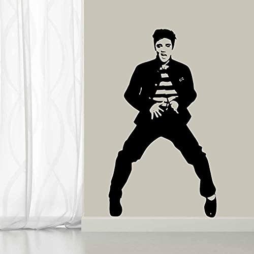 Legend Rock Music Dance Star Cantante Bailando Elvis Presley Vinilo Etiqueta de la pared Etiqueta engomada del coche Calcomanía Niño Dormitorio Sala de estar Club Studio Decoración para el h