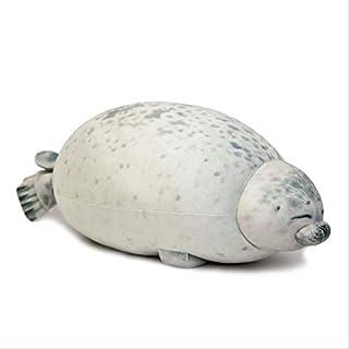 Seal Pillow Doll Cute Sea Lion Peluches 3D Novedad Almohadas Soft Seal Plush Stuffed Plush Fiesta de inauguración de la casa Hold Pillow Blanco