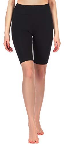 Merry Style Damen Kurze Leggings MS10-219(Schwarz,M)