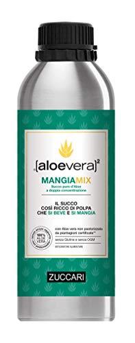 ZUCCARI Aloevera2 Mangix Succo Puro D'aloe A Doppia Concentrazione, 1000 ml