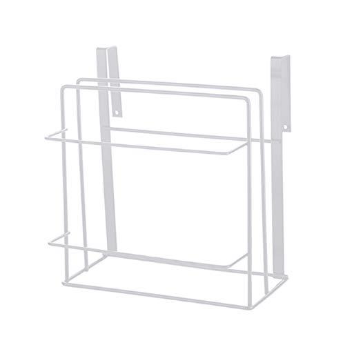Kuinayouyi Tabla de cortar estante de almacenamiento gabinete de cocina estante colgante armarios rack toallero ahorro de espacio hogar blanco