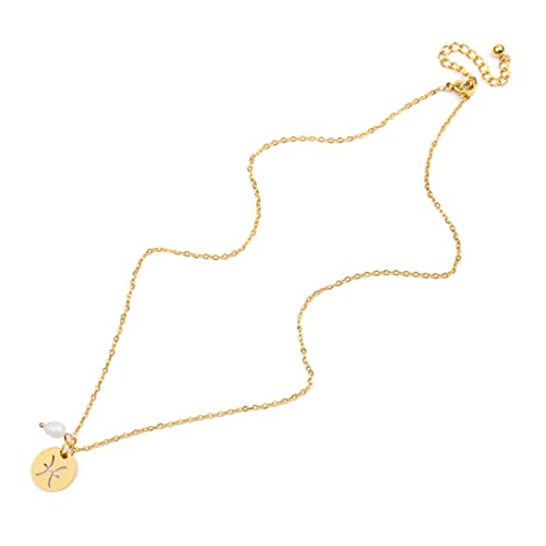 Trendy Star Zodiac Sign 12 Collares con Colgante de constelación para Mujeres Hombres Capricornio Leo Escorpio Collar de Acero Inoxidable-Piscis, Dorado