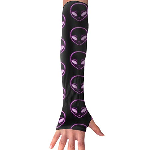 Alien Langarm-Handschuh mit Daumenlöchern, Violett