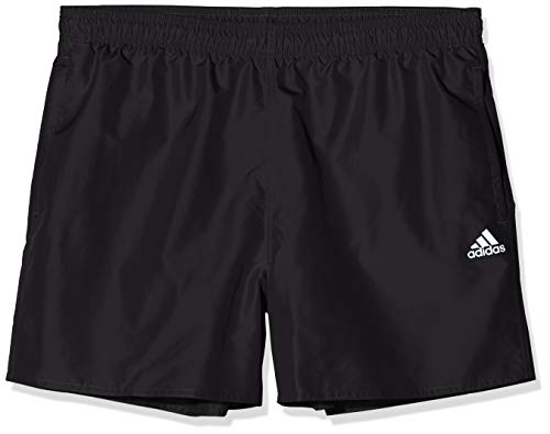 adidas Mens CLX Solid Board Shorts, Black, 10