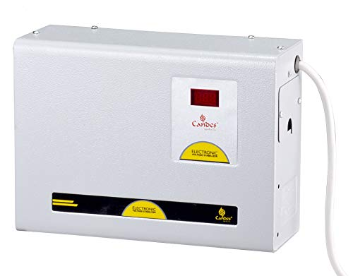 Candes Crystal 4kVA for 1.5 Ton AC (150V to 285V) Voltage Stabilizer with Wide Working Range Best for Inverter AC,...