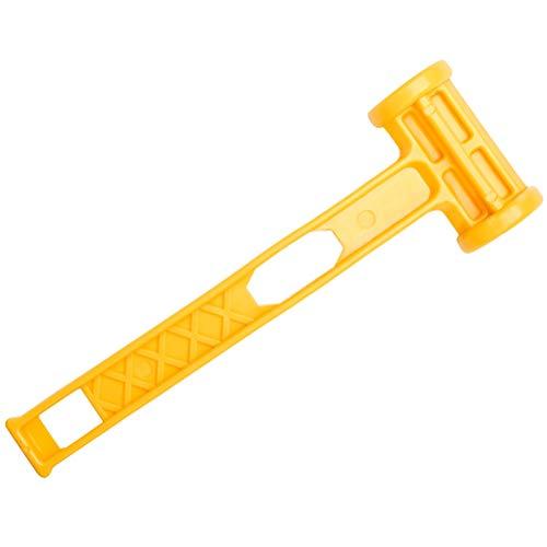 VORCOOL Außenmarkise Canopy Zelt Peg Stake Kunststoffhammer Camping Zelt Hammer (gelb)