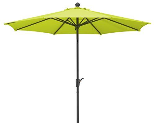 Schneider Sonnenschirm Harlem, apfelgrün, 270 cm rund, Gestell Aluminium/Stahl, Bespannung Polyester, 5 kg